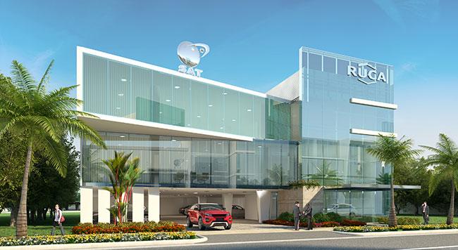 Oficinas corporativas panama viejo business center for Fachadas oficinas minimalistas
